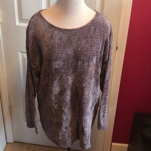 Eileen Fisher plum sweater sz L-XL